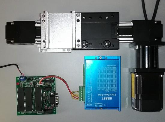 电脑串口控制单轴直线导轨滑台升降台开发控制套件
