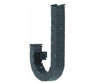 易格斯R118系列拖管,可沿内径方向从两侧快速打开