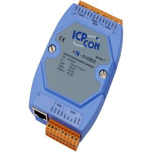 供应泓格I-7188E8:7*RS-232,1*RS-485串口设备联网服务器