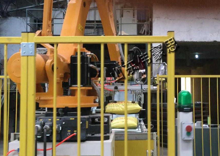 碳酸钙机器人拆垛机 自动袋装机械手拆垛机