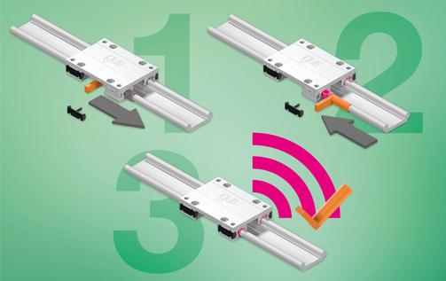 维护需求可通过新型智能塑料直线导向装置预先设置