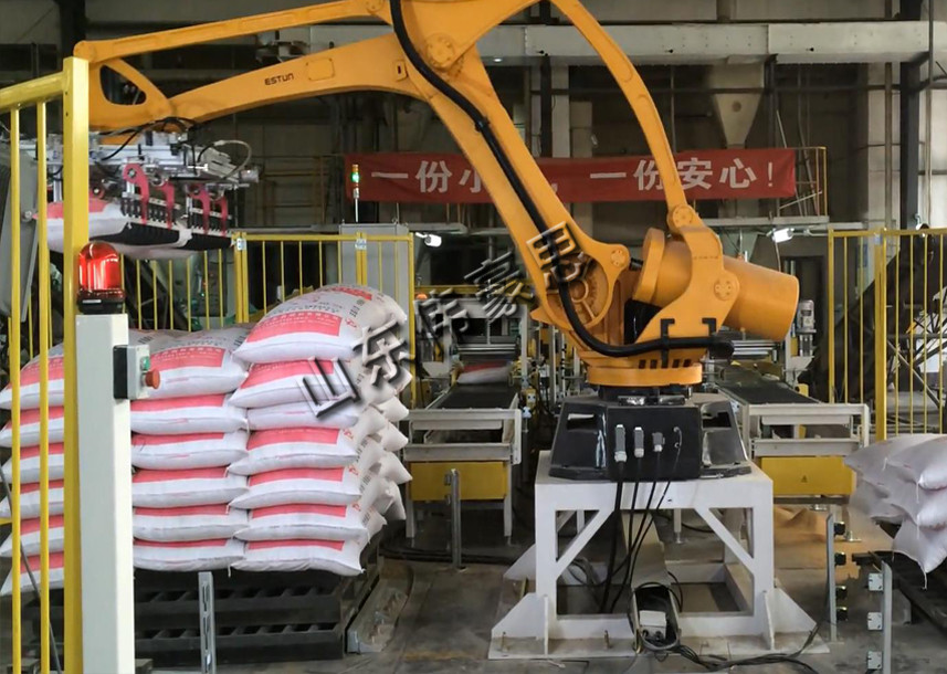 无尘全自动码垛机器人 移动式袋料包装码垛机械手