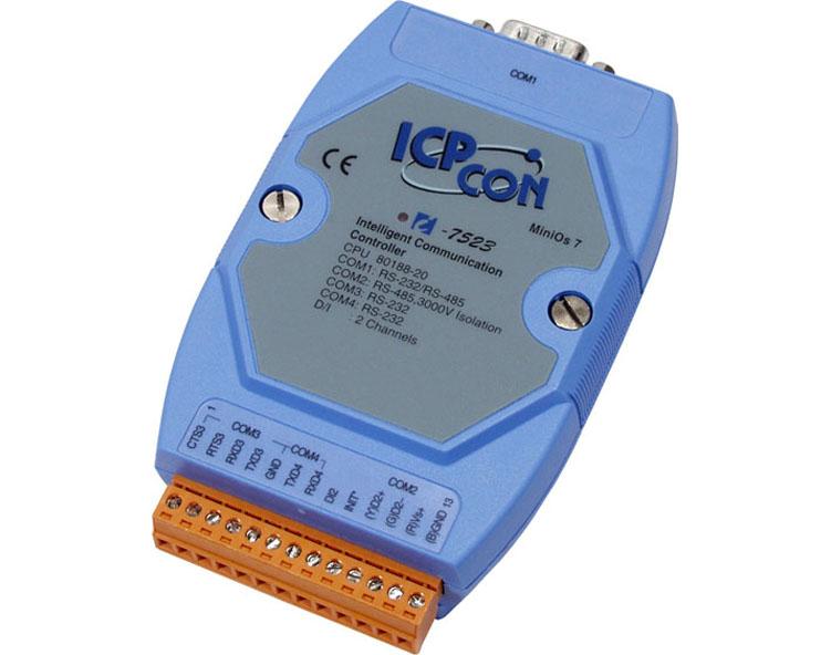 供应泓格I-7523 I-7523D:可寻址的RS-485到RS-232转换器,支持三个RS-232
