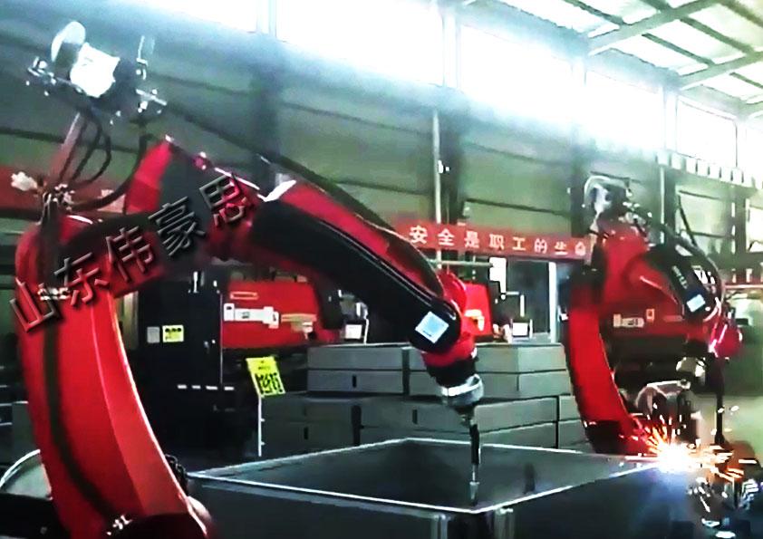 管道双工位机器人焊接机 机械手激光焊接机