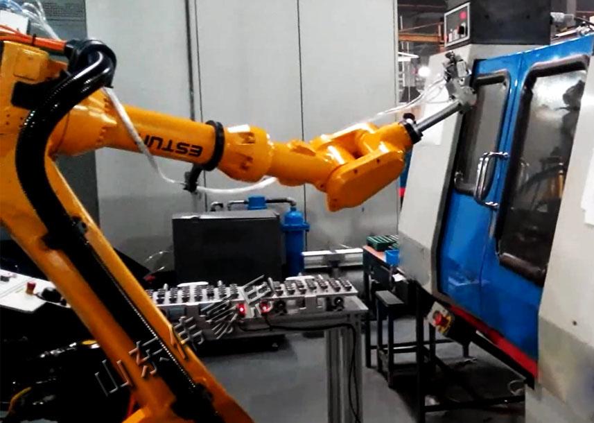 六轴机器人自动上下料 轮毂全自动上下料机器人