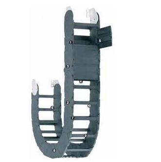 易格斯1640系列拖链,每个链节可在两侧打开
