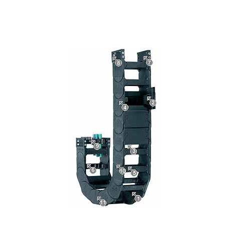 易格斯 R18840系列拖管,可从两侧打开或闭合