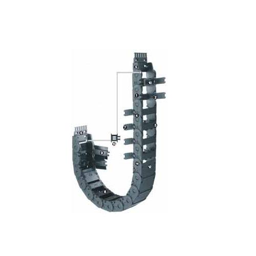 易格斯 2400系列- 链, 可沿内径方向打开