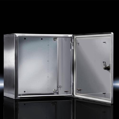 威图防爆箱体 不锈钢,空箱体配有铰接门