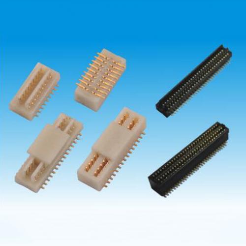 锦凌 0.5BTB/10P-100P公头/双槽型/SMT/H2.0/带柱/黑色/PA9T料