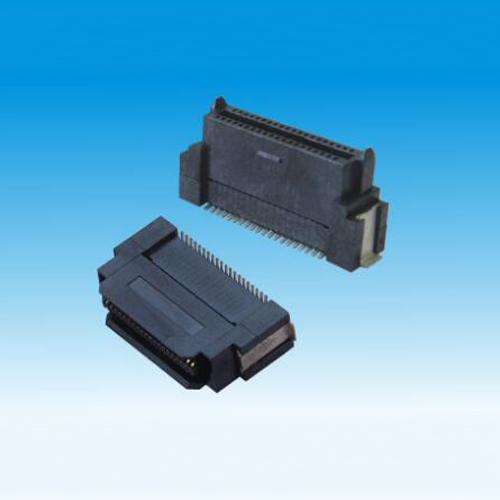 锦凌 0.8BTB D型/40P-120P公头/加高型/H13.0/SMT/贴脚宽6.0/带柱/LCP料