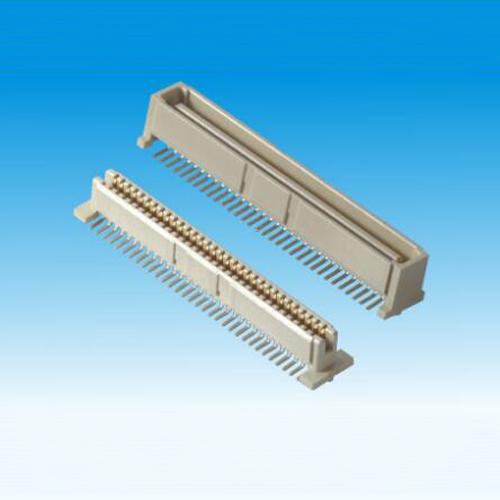 锦凌 1.0BTB-64/70/100P公头/H8.3/SMT/贴脚宽5.6/带柱/本色/LCP料