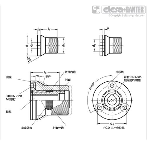伊莉莎 GN 200 分度机械装置