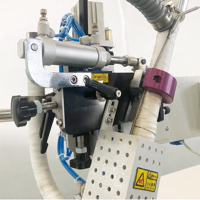 哲曼环保可定制滤布高温热风胶条机