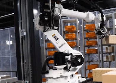 机器人+AGV+视觉识别,现代机器人全新无人化智能工厂