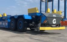 001出列!搭载蓝海华腾控制器的钦州港自动化码头首台IGV进场测试!