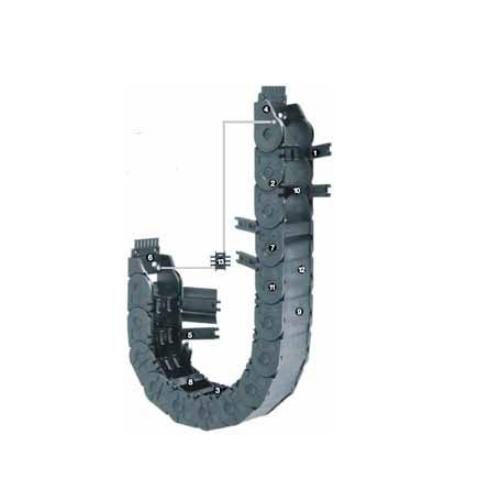 易格斯 E2/000 中型拖链(半封闭)-3450系列
