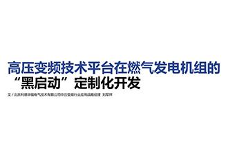 """高压变频技术平台在燃气发电机组的""""黑启动""""定制化开发"""