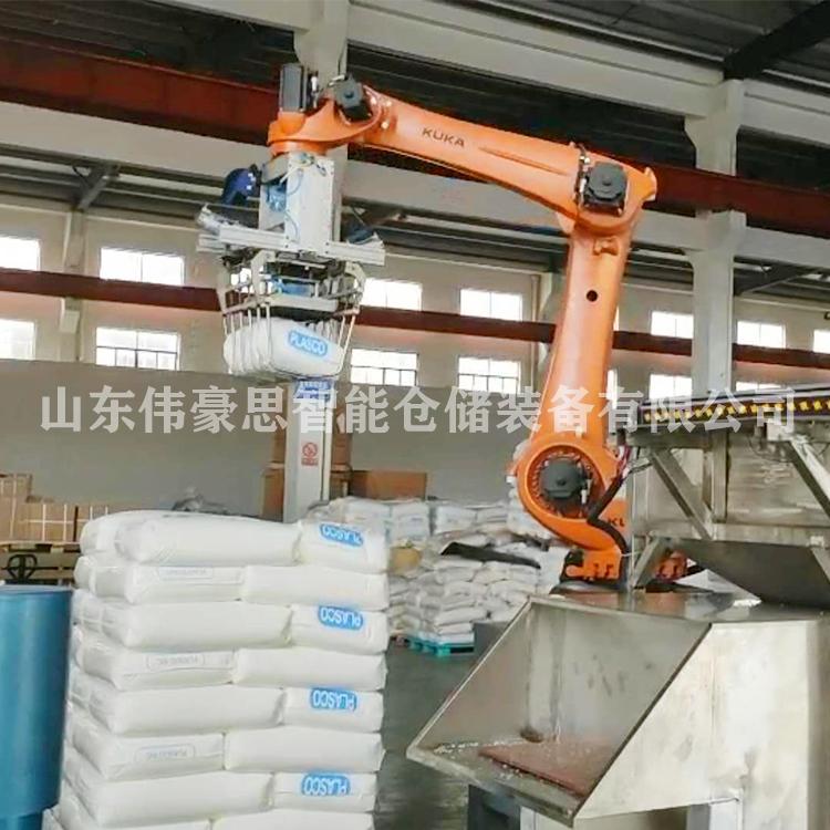 工业盐全自动拆垛设备 非标定制智能拆垛机械手