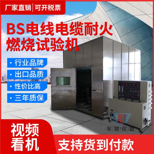 牟景仪器-BS电线电缆阻燃和耐火试验机